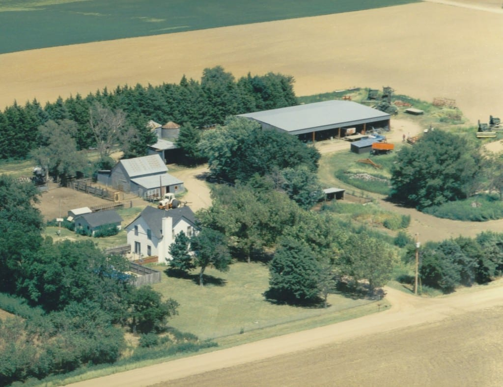 An aerial view of Sarah Smarsh's family farm in Kansas. Courtesy of Sarah Smarsh.