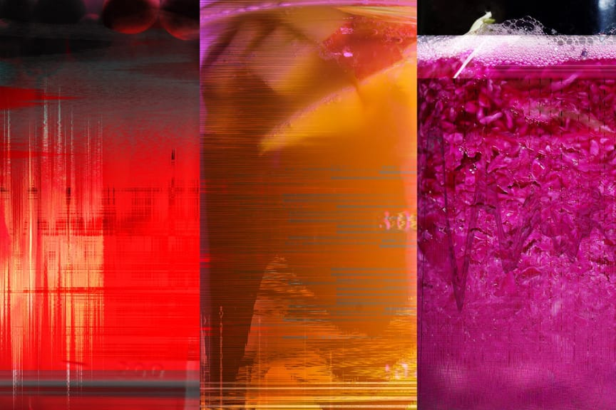 Digital prints of microbial selfies created by our custom electronics and software