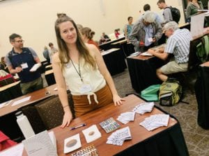 Kristin George Bagdanov at the ASLE author fair in 2019.